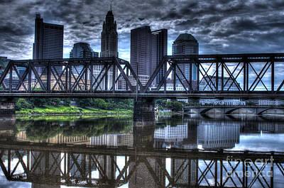 Locamotive Photograph - Columbus Ohio Downtown IIi by J M Lister