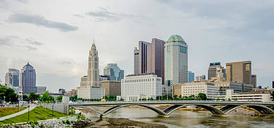 Photograph - Columbus Ohio Skyline And Downtown Streets In Late Afternoon by Alex Grichenko