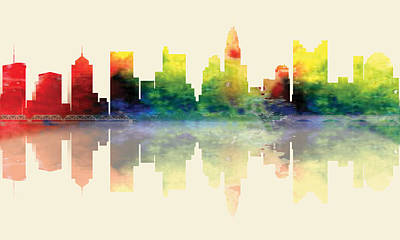 Digital Art - Columbus Ohio Skyline by Loretta Luglio