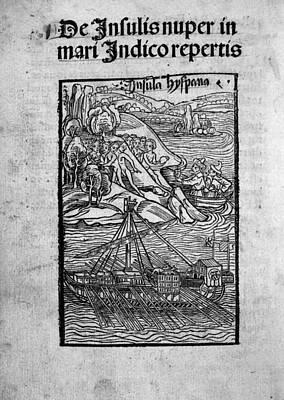 Columbus Ship, C1494 Art Print