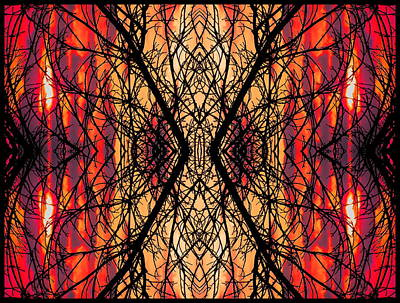 Digital Art - Columbus Sunset Mirror by Expressionistart studio Priscilla Batzell