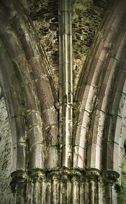 Photograph - Column Art - Rock Of Cashel by Nadalyn Larsen