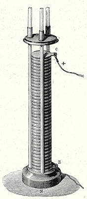 Enlightenment Drawing - Column Battery by English School
