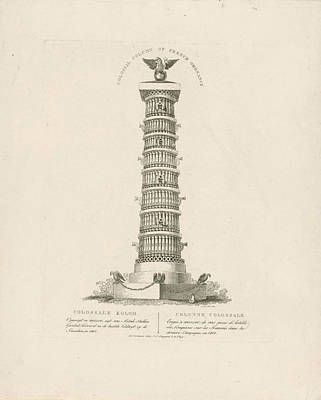Christian Artwork Drawing - Column In Moscow Russia, Christian Anthony Lotter by Quint Lox