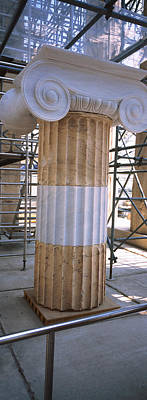 Acropolis Photograph - Column In The Acropolis, Athens, Greece by Panoramic Images