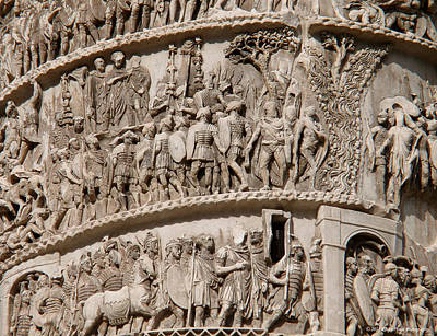Photograph - Column Of Marcus Aurelius by Kathy Ponce
