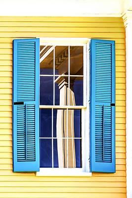 Photograph - Column Reflection by Maria Coulson