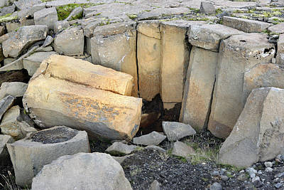 Photograph - Columnar Basalt by E.r. Degginger