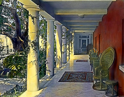 Realistic Photograph - Columns And Chairs by Terry Reynoldson