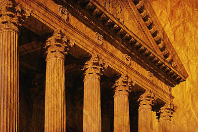 Columns And Fascia Of Greek Or Roman Art Print by Don Hammond