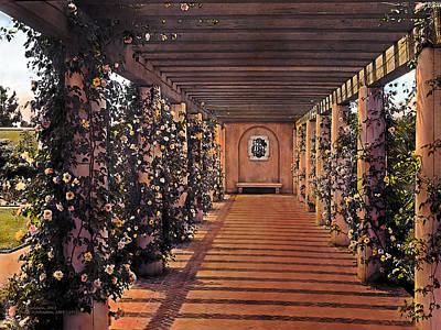 Luxury Painting - Columns And Flowers 2 by Terry Reynoldson