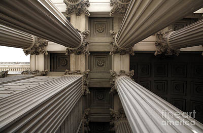 Columns At The National Archives In Washington Dc Art Print