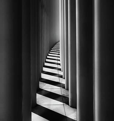 Column Photograph - Columns by Hans-wolfgang Hawerkamp