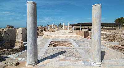 Columns In Archaeological Site Art Print