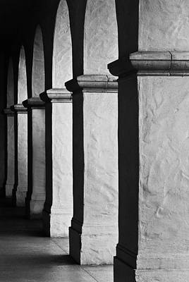 Light And Shadow Photograph - Columns by Joseph Smith