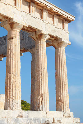Photograph - Columns Of Aphaia by Paul Cowan