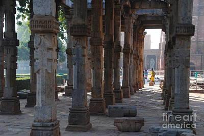 Photograph - Delhi - Columns Of Qutb Minar Complex by Jacqueline M Lewis