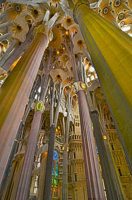 Photograph - Columns Of La Sagrada Familia by Jack Daulton