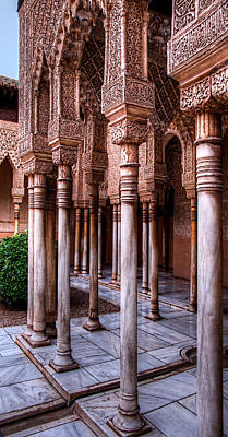 Photograph - Columns Of The Court Of The Lions by Weston Westmoreland