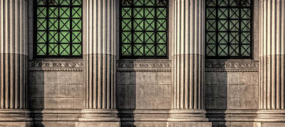 Photograph - Columns On An Old Building by Thomas Winz