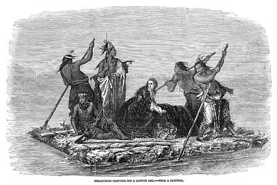 Comanche Painting - Comanche Kidnapping, 1858 by Granger