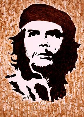 Comandante Che Guevara Original Coffee Painting Original