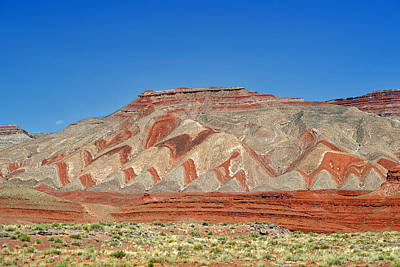 Jagged Photograph - Comb Ridge Utah Near Mexican Hat by Christine Till