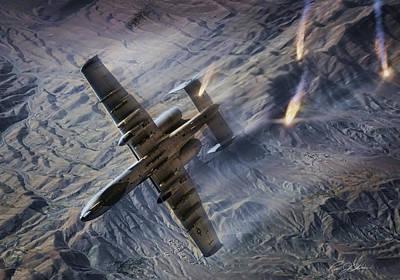A-10 Digital Art - Combat Hog by Peter Chilelli