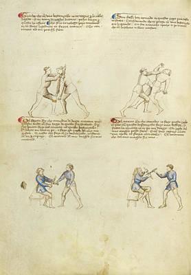 Combat With Rondel And Dagger Fiore Furlan Dei Liberi Da Art Print