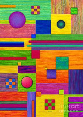 Colored Pencil Abstract Painting - Combination 2 by David K Small