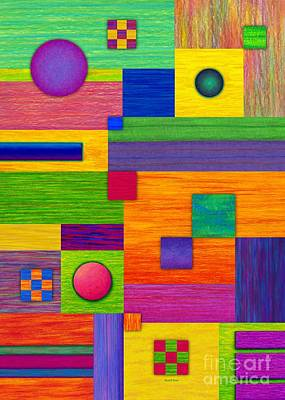 Colored Pencil Abstract Painting - Combination by David K Small