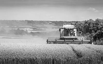 Photograph - Combine Harvester by Gary Gillette