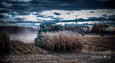 Photograph - Combining Corn by Ronald Grogan