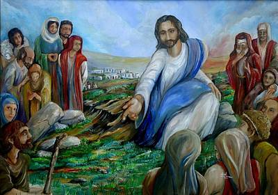 Sermon On The Mount Painting - Come As You Are by Jack Bordenca