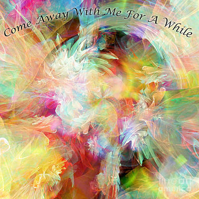 Library Digital Art - Come Away by Margie Chapman