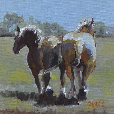Painting - Come Back Max And Major by Pattie Wall