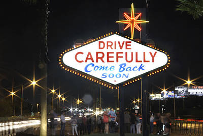 Come Back Soon Las Vegas  Art Print by Mike McGlothlen