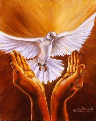 Brilliant Painting - Come Holy Spirit by Carole Powell