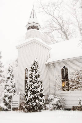 Art Print featuring the photograph White Christmas In Maryland Usa by Vizual Studio