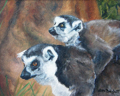 Painting - Come On Come On Theyre Ahead by Lori Brackett