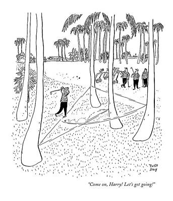 Swing Drawing - Come On, Harry! Let's Get Going! by Robert J. Day