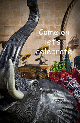 Come On Let's Celebrate Print by Kathy Clark
