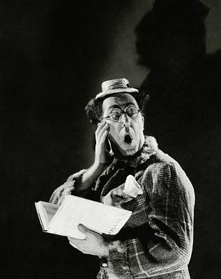 Shock Photograph - Comedian Ed Wynn Looking Shocked by Edward Steichen