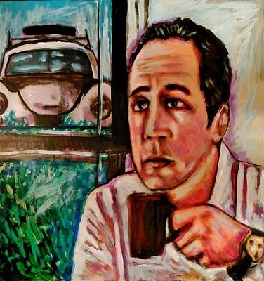 Seinfeld Painting - Comedians Cars And Coffee Oh My by Kimberly Dawn Clayton
