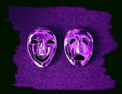 Despair Digital Art - Comedy And Tragedy Masks 2 by Will Borden