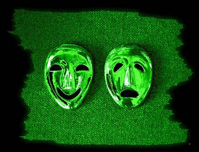 Digital Art - Comedy And Tragedy Masks 3 by Will Borden