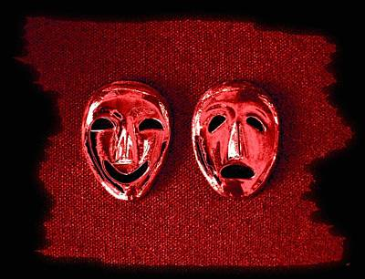 Despair Digital Art - Comedy And Tragedy Masks 4 by Will Borden