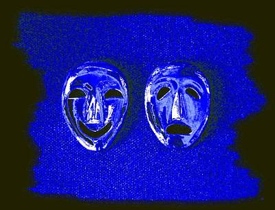 Digital Art - Comedy And Tragedy Masks 5 by Will Borden