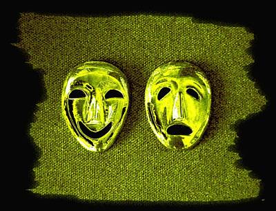Digital Art - Comedy And Tragedy Masks 6 by Will Borden