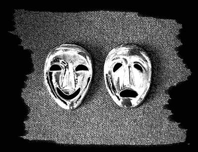 Digital Art - Comedy And Tragedy Masks 7 by Will Borden